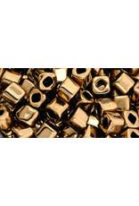 Toho 221  4mm  Cube  6g  Bronze Brown Metallic