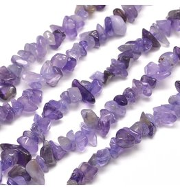 "Amethyst  Chips Purple 30"" Strand"