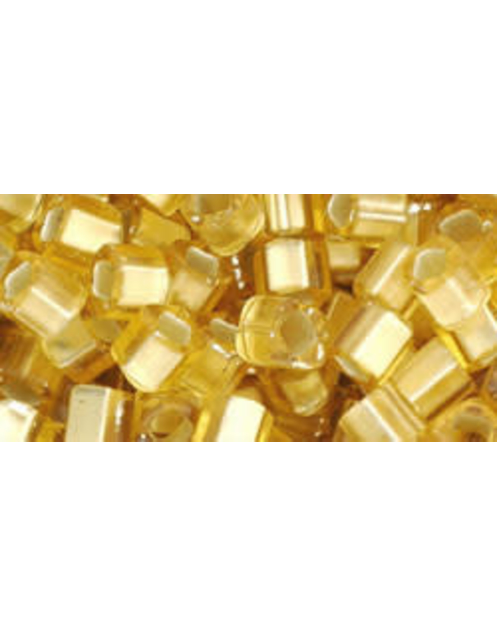 Toho 22bf  4mm  Cube  6g  Gold s/l Matte