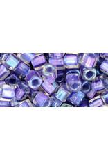 Toho 265  4mm  Cube  6g  Clear Purple Metallic c/l