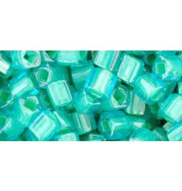 Toho 954  4mm  Cube  6g  Clear Aqua Yellow c/l