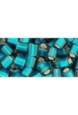 Toho 27bdf  4mm  Cube  6g  Teal Blue s/l Matte