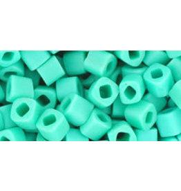 Toho 55f  4mm  Cube  6g  Opaque Turquoise Blue Matte