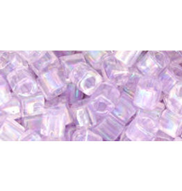 Toho 477d  4mm  Cube  6g   Transparent Alexandrite Purple AB