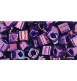 Toho 461  4mm  Cube  6g   Opaque Purple Metallic