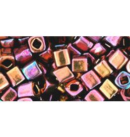 Toho 502  4mm  Cube  6g  Opaque Amethyst Purple AB Metallic