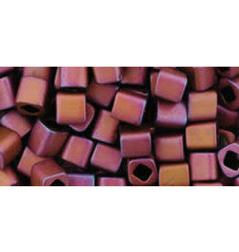 Toho 703  4mm  Cube  6g  Opaque Purple Mocca Matte Metallic