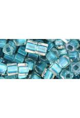 Toho 263B  4mm  Cube  40g   Clear Cacpri Blue c/l