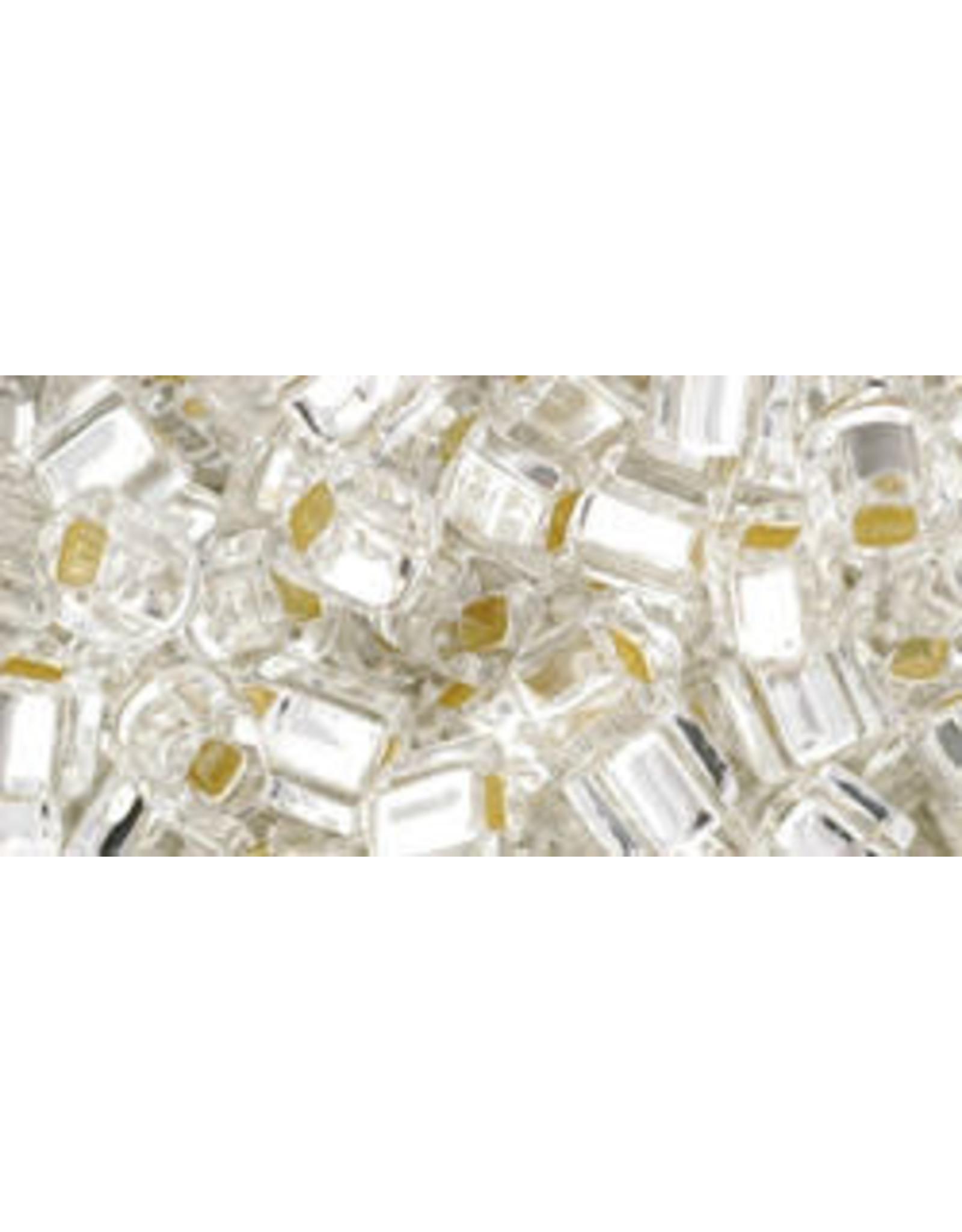 Toho 21  4mm  Cube  40g  Clear s/l