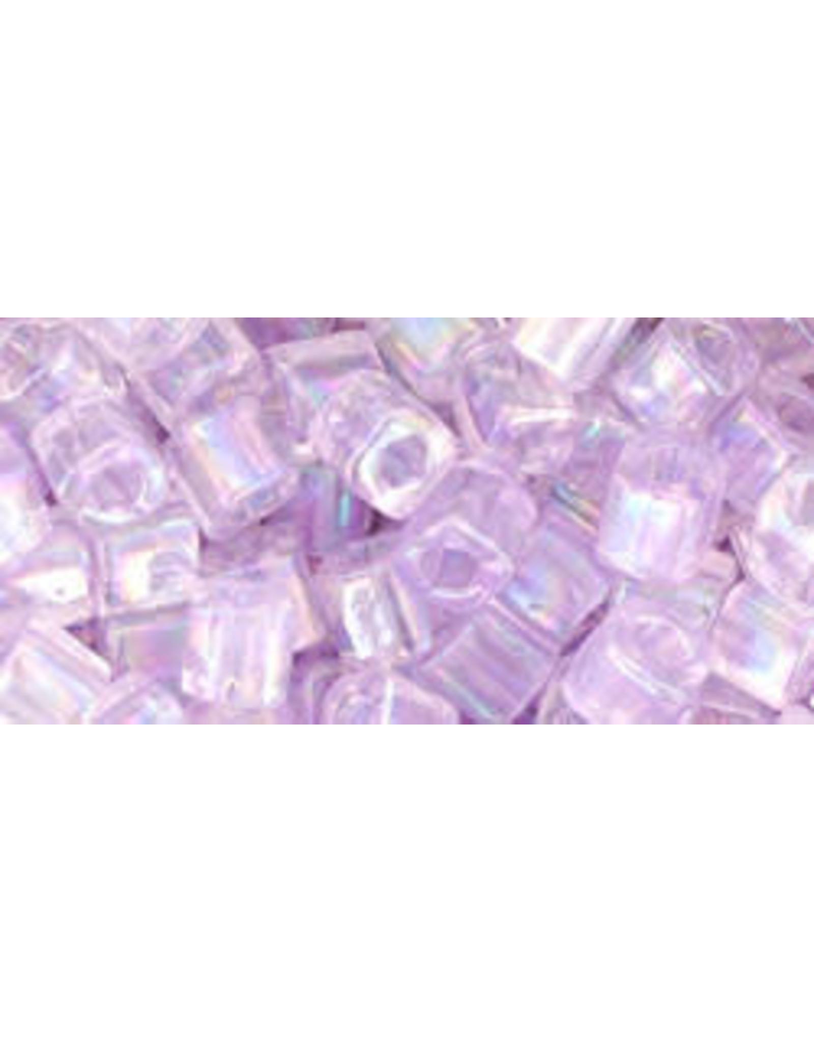 Toho 477dB  4mm  Cube  40g   Transparent Alexandrite Purple AB