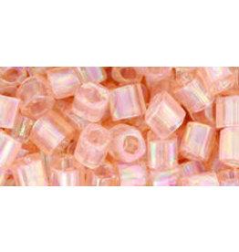 Toho 169B  4mm  Cube  40g  Transparent Rosaline Pink AB