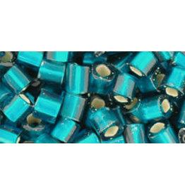 Toho 27bdfB  4mm  Cube  40g  Teal Blue s/l Matte