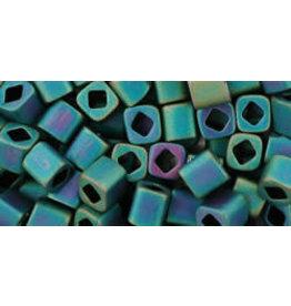 Toho 706B  4mm  Cube  40g  Teal Green AB Matte Metallic
