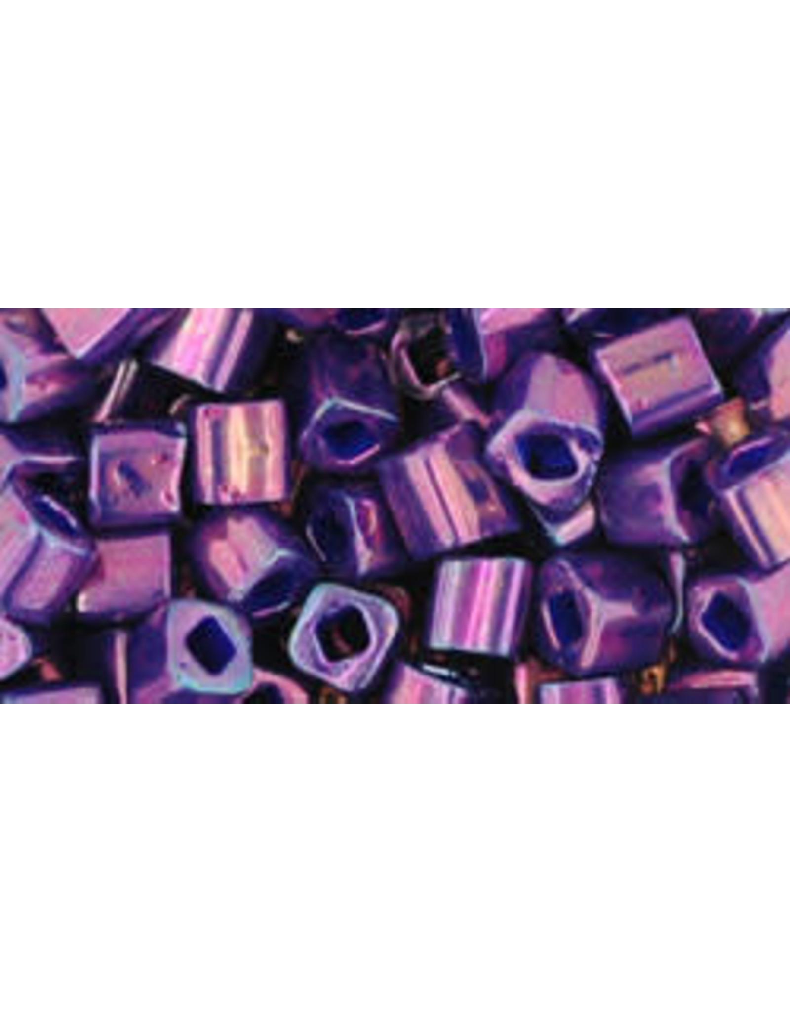 Toho 461B  4mm  Cube 40g   Opaque Purple Metallic