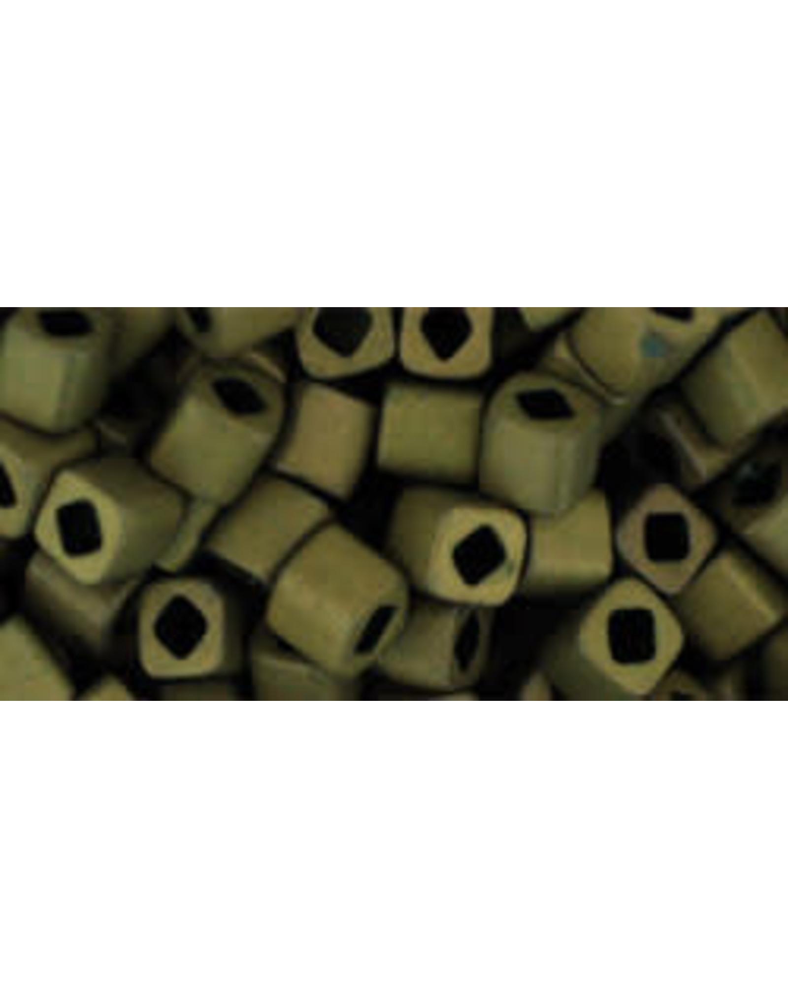 Toho 223fB  4mm  Cube  40g  Antique Bronze Brown Matte Metallic