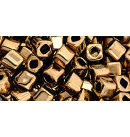 Toho 221B  4mm  Cube  40g  Bronze Brown Metallic