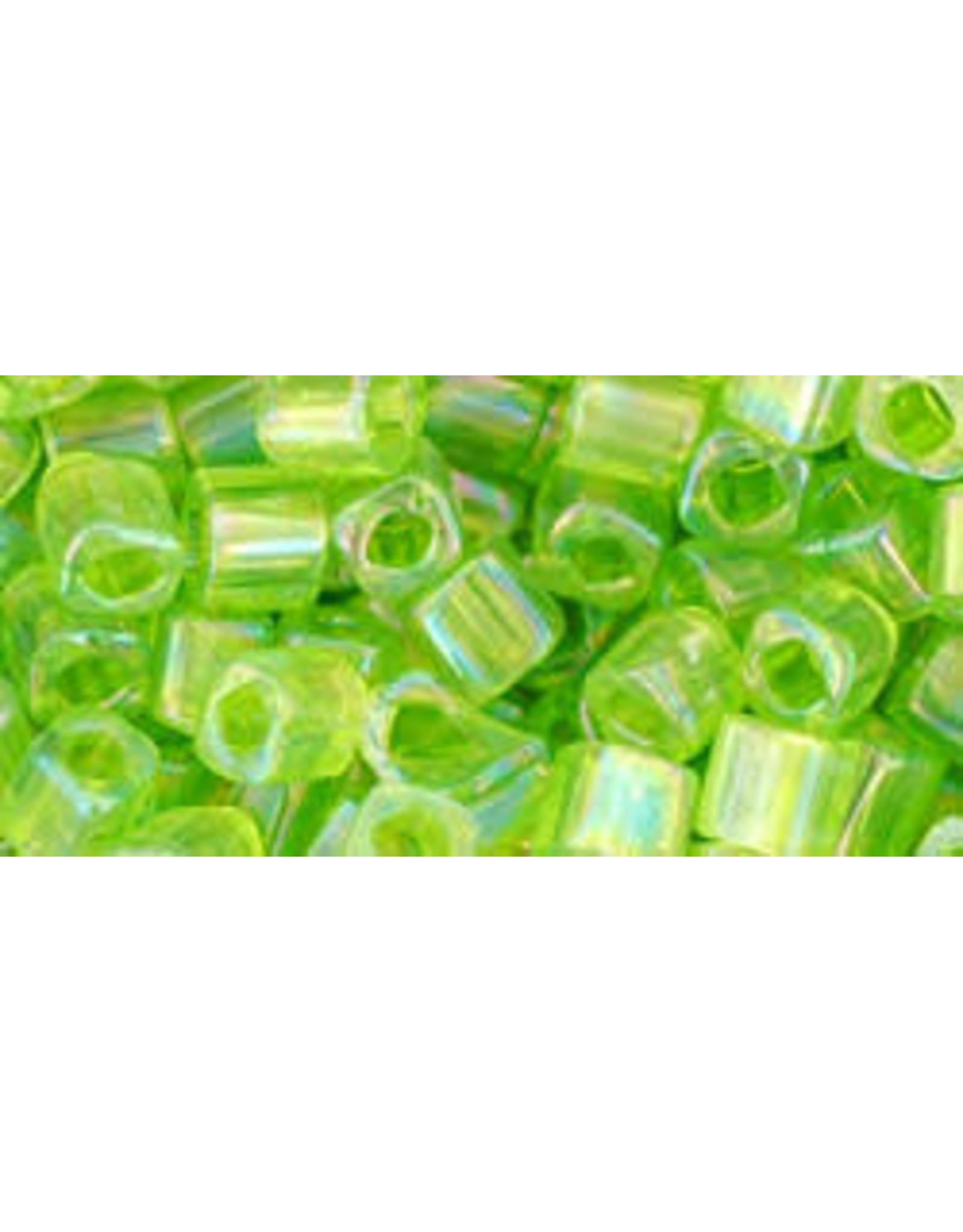 Toho 164B  4mm  Cube 40g  Light Green AB