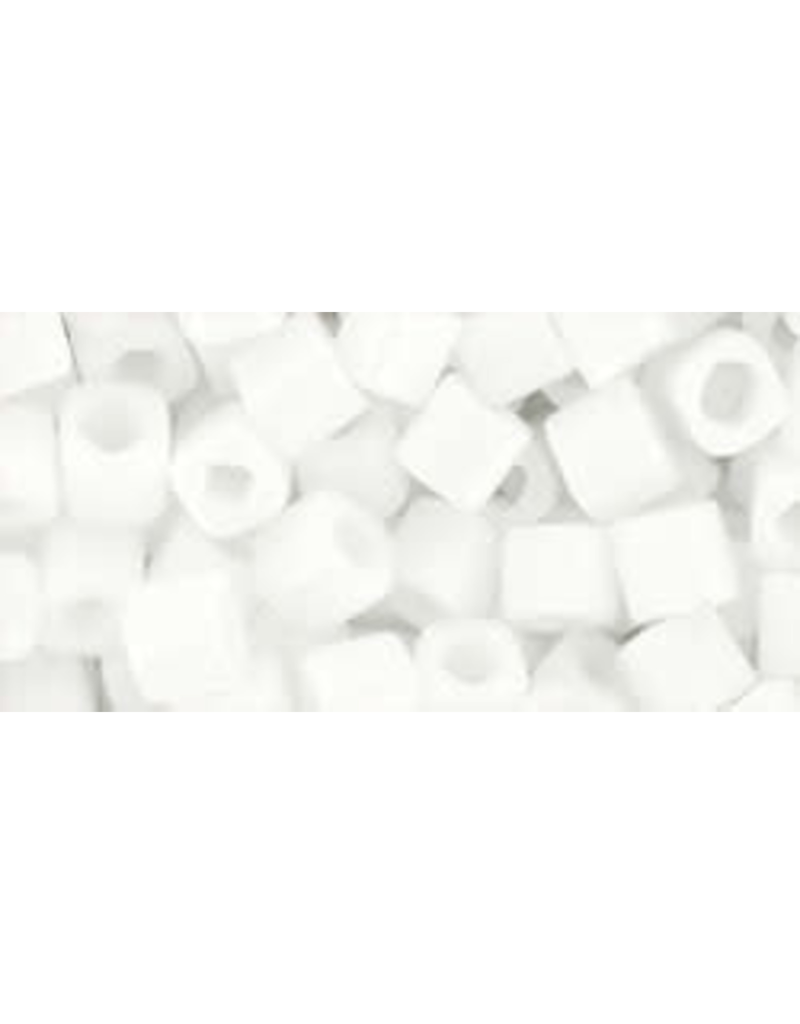 Toho 41B  4mm  Cube  40g  Opaque White