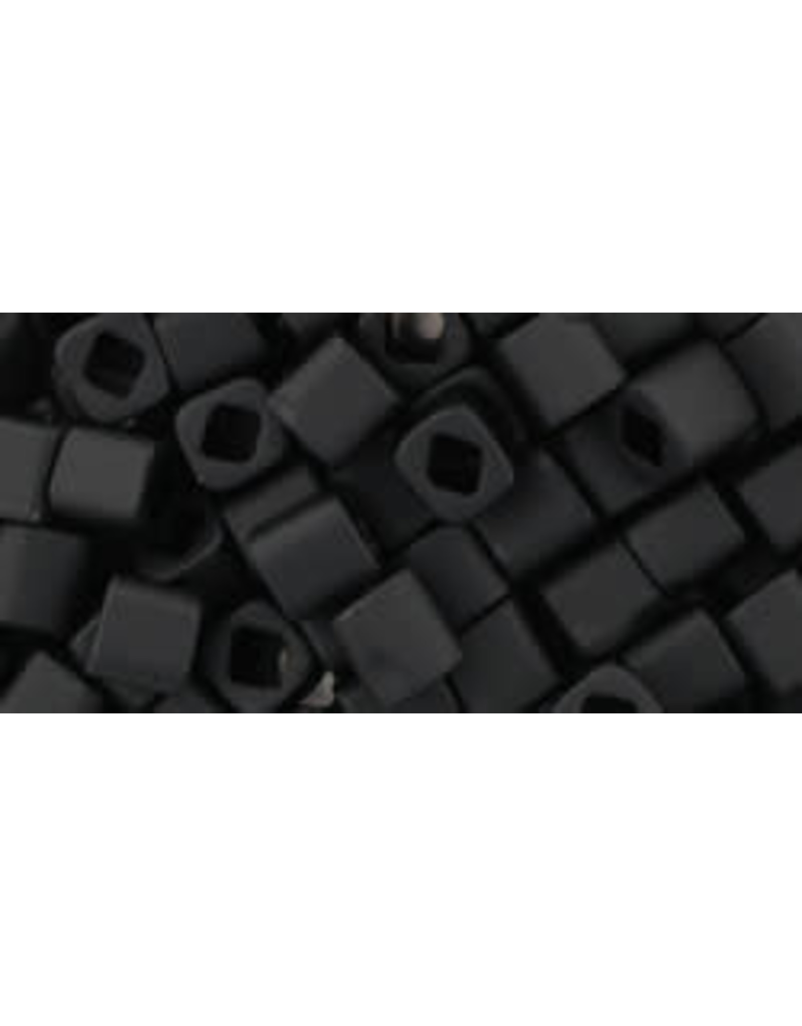 Toho 49fB  4mm  Cube  40g  Jet Black Matte