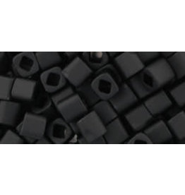Toho 49fB  4mm  Cube  40g  Jet Black Matte