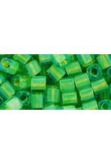 Toho 307B 4mm  Cube 40g  Aqua Blue Yellow c/l