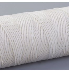 Waxed Polyester  1mm White   x50m