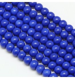 8mm Round Glass Pearl  Blue approx  x50