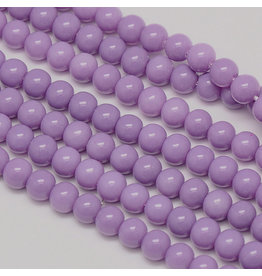 6mm Round Glass Pearl  Light Purple approx  x70