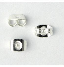 Earring Scroll Back 6x5mm Silver x50 NF