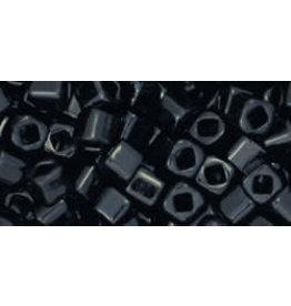 Toho 49  3mm  Cube  6g  Jet Black