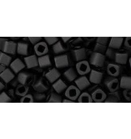 Toho 49f  3mm  Cube  6g  Jet Black Matte