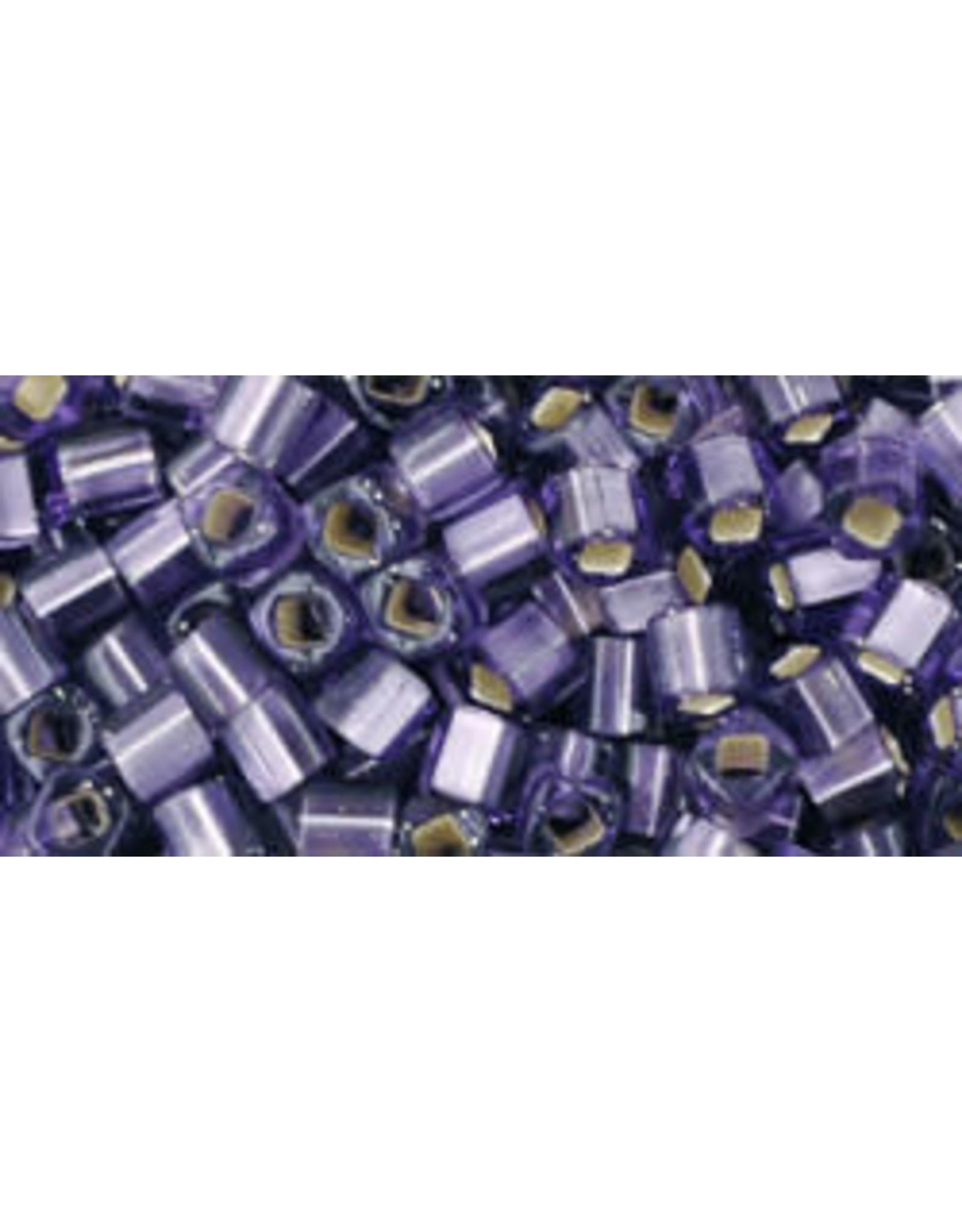 Toho 39f  3mm  Cube  6g  Tanzanite Purple s/l Matte