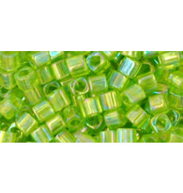 Toho 164  3mm  Cube  6g  Transparent Light Green AB