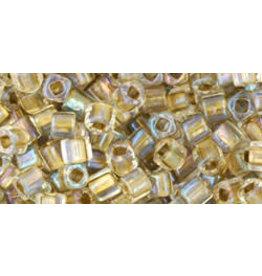 Toho 262  3mm  Cube  6g  Clear Lustre Gold c/l