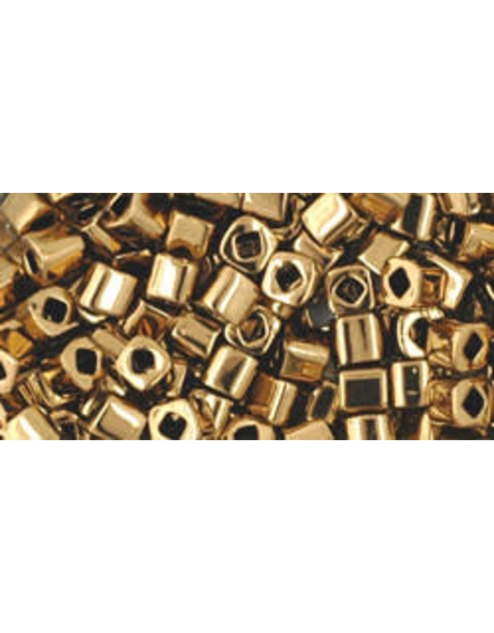 Toho 221  3mm  Cube  6g  Bronze Brown Metallic