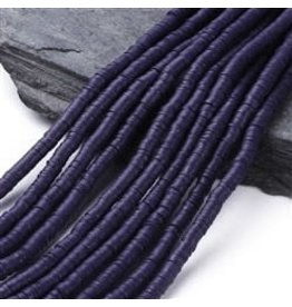 Polymer Clay 6mm Heishi Medium Blue(purple) approx  x380