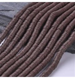 Polymer Clay 6mm Heishi Saddle Brown  approx  x380
