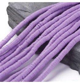Polymer Clay 6mm Heishi Lavender Purple  approx  x380
