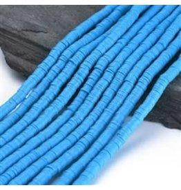 Polymer Clay 6mm Heishi Dodger Blue approx  x380