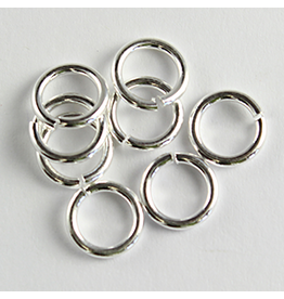 Jump Ring 6mm Platinum approx  16g  x100 NF