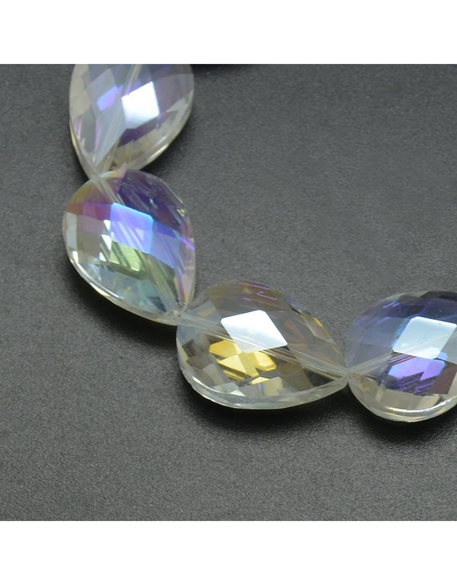 24x17x11mm Drop Chinese Crystal Clear AB x6