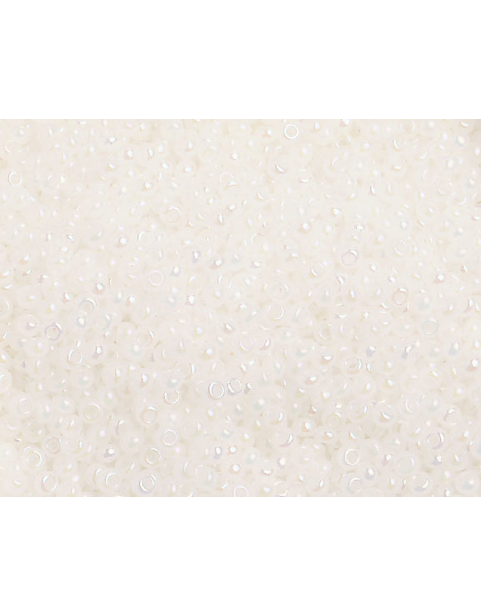 Czech 1480B 10  Seed 250g Opaque Pearl White AB