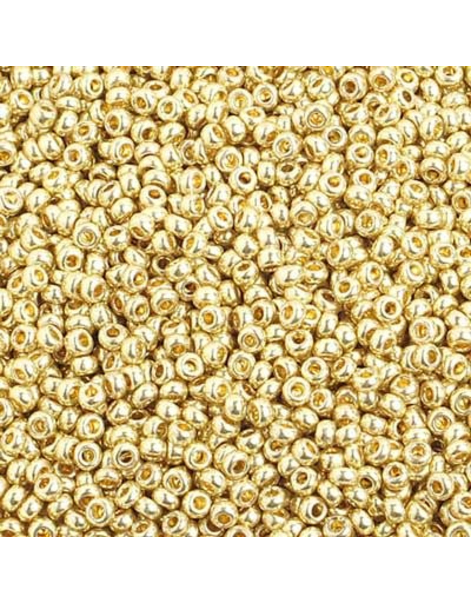 Czech *40026 10  Seed 125g  Light Gold Metallic s/g