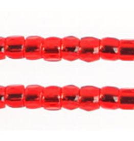 Czech 1762 10/0 3 Cut  Seed Hank 25g Red s/l