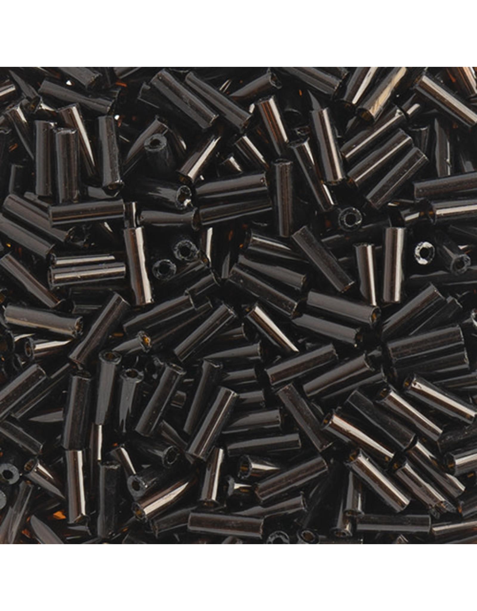 Czech 401017B  #3 Bugle 125g  Transparent Dark Topaz Brown