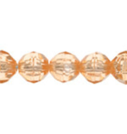 Faceted Round  8mm Champagne   x250