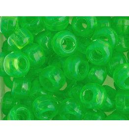 Crow Beads 9mm Transparent Neon Green  x250