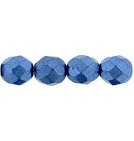 Czech 8mm Fire Polish  Blue Peony Metallic   x25