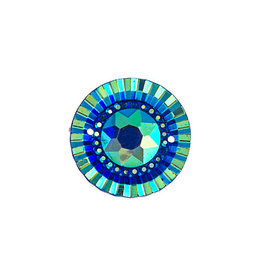 Round Resin Cabochon 20mm Blue AB  x10