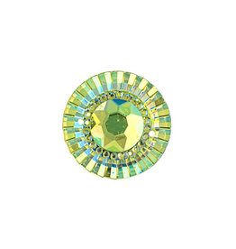 Round Resin Cabochon 20mm Lime Green AB  x10